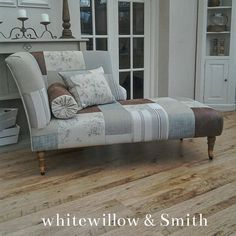 Patchwork contemporary chaise longue by Whitewillowandsmith
