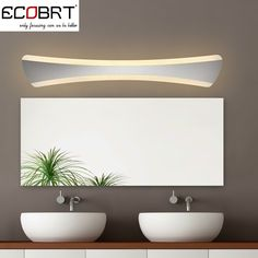 Find More Wall Lamps Information about [ECOBRT] New Arrival 15W Modern LED Wall Lights in Bathroom Mirror Light lamps 42cm /55cm AC220V/110V White Acrylic Wall Lamps,High Quality led wedding light,China led turn signal resistor Suppliers, Cheap led signal tower light from ECOBRT on Aliexpress.com
