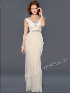 Prom Dresses Chiffon Evening Dresses With Beaded