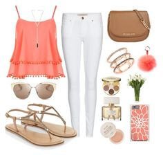 """""""Summer"""" by jolka-krawiec ❤ liked on Polyvore featuring Burberry, Accessorize, WearAll, MICHAEL Michael Kors, EF Collection, Fresh, tarte, Givenchy, Christian Dior and RAJ"""