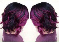 Du möchtest im Mittelpunkt stehen? Vielleicht mit einer dieser tollen Frisuren in Pastelltönen, wie Lila und Pink!: