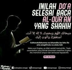 Doa selesai baca Al Qur'an Islamic Love Quotes, Muslim Quotes, Islamic Inspirational Quotes, Religious Quotes, Hijrah Islam, Doa Islam, Book Quotes, Life Quotes, Moslem
