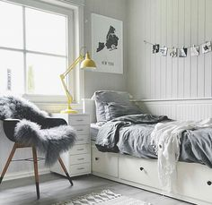 Teenage room decor, bedroom decor teen, cute teen bedrooms, teen be Master Bedroom Interior, Room Ideas Bedroom, Small Room Bedroom, Bedroom Themes, Bedroom Furniture, Cozy Bedroom, Small Rooms, Kids Furniture, House Furniture