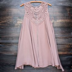 darling boho chic dresses from paper hearts | shophearts.com | taupe boho crochet lace dress – shop hearts