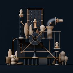 Toy Sculpture on Behance Shape Design, 3d Design, Design Trends, Sculpture Art, Sculptures, 3d Cinema, Modelos 3d, 3d Artwork, Art Graphique