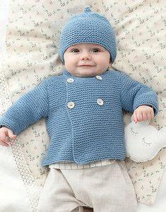 Modèle bonnet bleu layette Phil Cabotine