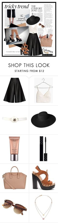 """Tricky Trend: Chic Culottes"" by cindy88 ❤ liked on Polyvore featuring Solace, Madewell, Dorfman Pacific, Urban Decay, Gucci, Givenchy, Balenciaga, Michael Kors, TrickyTrend and culottes"