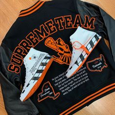 """CapitalBst on Instagram: """"Going Out Now!!! - Off-White x Converse Chuck Taylor - Size 13 - $350 New Supreme Team Varsity Jacket - Size XL - $600 - #capitalbst…"""" Swag Outfits, Chuck Taylors, Converse Chuck Taylor, Supreme, Off White, Going Out, Bending, Astrology, Otaku"""