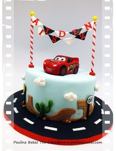 Disney Cars Cake for Twin Boys Twin boys Cake decorating