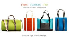Introducing the Totes & Travel Collection: Form+Function+Felt