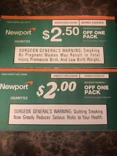 Newport Cigarette Coupons & off a pack expires & off a pack expires Free Coupons Online, Free Coupons By Mail, Digital Coupons, Free Stuff By Mail, Gift Coupons, Get Free Stuff, Grocery Coupons, Cigarette Coupons Free Printable, Free Printable Coupons