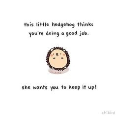 I bet you never thought you'd have a hedgehog cheering you on, did you? Well, LOOK at you now! Maybe, just *maybe*, all those wonderful things you dream of aren't so farfetched either, eh?