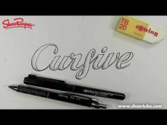 I've been hunting all over for some good hand-lettering tutorials. Youtube has a few.