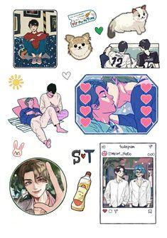 Boys Wallpaper, Wallpaper Backgrounds, Printable Stickers, Planner Stickers, Thailand Wallpaper, Dramas, Thai Art, Thai Drama, Scrapbook Stickers
