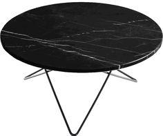 O-table Svart marmor 80 cm diam. H: 40 cm svart OX