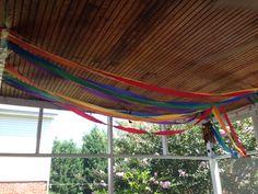 Rainbow streamers