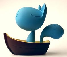 Designer toys – a collection of figurines for graphic designers and creative minds Toy Art, 3d Figures, Vinyl Figures, Vinyl Toys, Vinyl Art, Art Jouet, Iq Puzzle, Character Design Cartoon, Cartoon Design