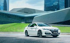 Download wallpapers Honda Sport Hybrid, 2017 cars, japanese cars, new Accord, Honda