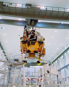The lunar landing module ready for packing into the Saturn V. #nasa #apolloprogram