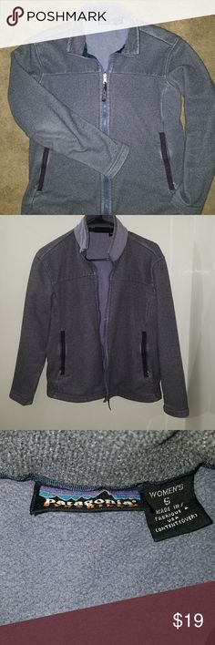 Womens Patagonia Jacket Well worn Patagonia zip up. Signs of wear mostly by pocket zippers, zipper, and elbows. Holes in the mesh for the pockets as shown ik picture 5 Patagonia Tops Sweatshirts & Hoodies