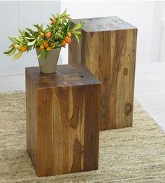 #InspiredGreenLiving- Teak Branch Side Table.  Made from plantation grown teak woodmilling scraps.