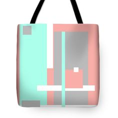 Pastel Geometric Abstract Tote Bag for Sale by Jenny Rainbow Thing 1, Poplin Fabric, Bag Sale, Tote Bags, Totes, Pastel, Rainbow, Fine Art, Stitch