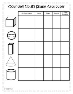 Math--♢Geometry♢ on Pinterest | 3d Shapes, Shape Posters and ...