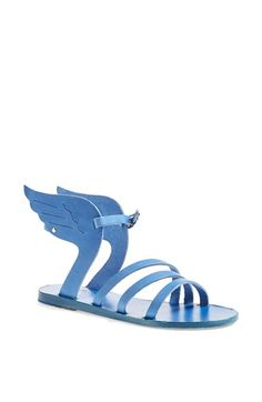 Ancient Greek Sandals 'Ikaria' Winged Metallic Leather Sandal available at #Nordstrom......oh dear...can't stop laughing at these....sure there is someone who likes them....