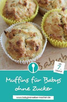 Rezept für Muffins ohne Zucker. Ein schnelles und einfaches Rezept für Babymuffins.