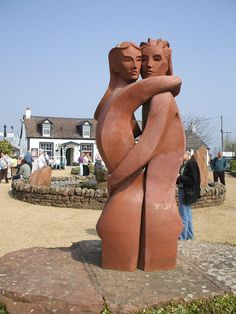 Gretna Green is a village in the south of Scotland, famous because it offered the possibility of marrying without the consent of the couples parents. It was the first village in Scotland, following the old coaching route from London to Edinburgh ('Lovers' sculpture by Kenneth Allen in Gretna Green)