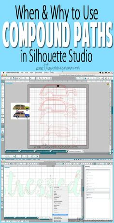 Examples on when you use compound paths in Silhouette Studio Plotter Silhouette Cameo, Silhouette Cameo Tutorials, Silhouette Cutter, Silhouette Cameo Machine, Silhouette Vinyl, Silhouette Portrait, Silhouette Projects, Silhouette Design, Silhouette Files