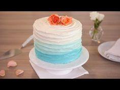 Blue Ombre Cake Recipe - Betty Crocker™ - YouTube