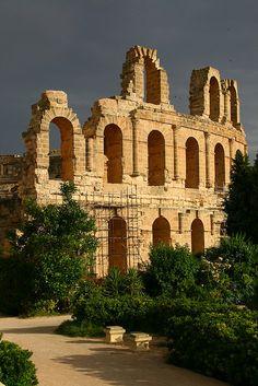 Ruins of the Roman colossum of El Jem,Tunisia