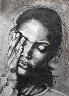 What is she thinking? - charcoal, 2021 Charcoal, My Arts, Portrait, Tattoos, Tatuajes, Headshot Photography, Tattoo, Portrait Paintings, Drawings