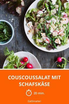 Couscoussalat mit Schafskäse | http://eatsmarter.de/rezepte/couscoussalat-mit-schafskase-0