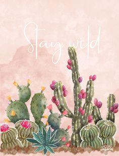 Desert Flowers, Desert Cactus, Cactus Wallpaper, Cactus Painting, Cactus Decor, Cactus Y Suculentas, Mural Art, Cactus Flower, Simple Art