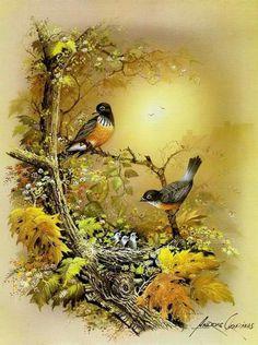 Dyskusja na liveinternet - Rosyjski serwis internetowy Diaries Bird Pictures, Pictures To Paint, Bird Prints, Animal Paintings, Bird Art, Beautiful Paintings, Beautiful Birds, Pet Birds, Art Images