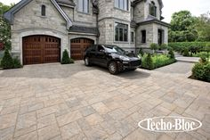 #Curbappeal #Driveways The Blu paver by Techo-Bloc, this is luxury. www.techo-bloc.com