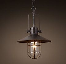 HARBOR PENDANT   BRONZE From Restoration Hardware Outdoor Lighting