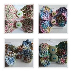 Crochet bows / Laços em crochet by Cards By Paula, via Flickr