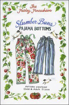 Pattern: Slumber Buns Pajama Bottoms - The Paisley Pincushion ppcsb01