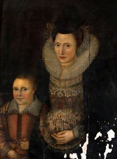 """Portrait of an Unknown Lady with a Child"", follower of Marcus Gheeraerts the younger, ca. 1610; Kinloch Castle 4361"