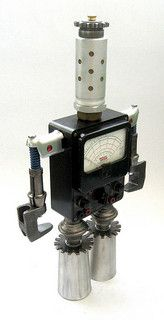 Eico III  - Found Object Robot Assemblage Sculpture