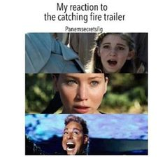 My reaction to catching fire trailer.