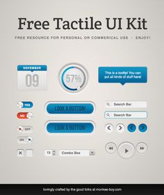 Greetings & happy Friday all! Today we have for you a super sleek and tactile UI kit, complete with knobs, blog items, video elements, progress tickers, and more! As always, our Freebie Friday PSDs are free for personal or commercial use. Please share and enjoy! Hey! Want 6 PSDs for free? We made a special [...]