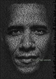 Barack Obama, Photo Text Portrait