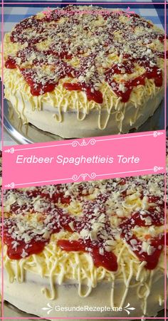 INGREDIENTS: For the soil: 3 egg (s) 150 g sugar 3 tablespoons water, warm 150 flour 1 t . - INGREDIENTS: For the base: 3 egg (s) 150 g sugar 3 tablespoons water, warm 150 flour 1 tsp baking p - Spaghetti Torte, Spaghetti Recipes, Pastry Recipes, Cake Recipes, Dessert Recipes, Delicious Desserts, Fun Desserts, Egg Tart, Healthy Crockpot Recipes