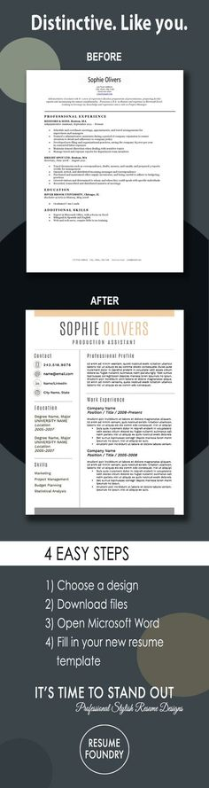 The Only Resume Cheat Sheet You Will Ever Need   College Tips     Resume Template for Word  1 3 Page Resume   Cover Letter   Reference Page    US Letter   INSTANT DOWNLOAD   Sophie