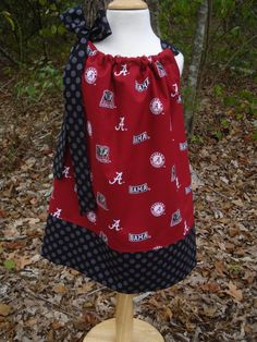 Girls Pillowcase Dress Alabama Roll Tide perfect for Football games. $22.00, via Etsy.