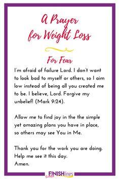 A Weight Loss Prayer for Fear - Diet Plans To Lose Weight Gewichtsverlust Motivation, Weight Loss Motivation, Want To Lose Weight, Loose Weight, Weightloss Prayer, Brenda, Easy Diet Plan, Diet Plans For Women, Weight Loss Inspiration